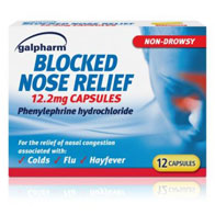 Blocked Nose Relief Caps 12's