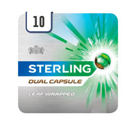 Sterling Dual Capsule Leaf Wrapped