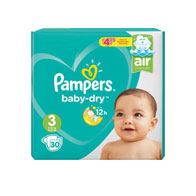Pampers Baby Dry Size 3 Midi Pack PM